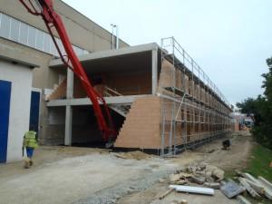 výstavba administrativního objektu firmy Poclain