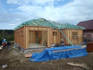 Stavba dřevostavby RD Suchý